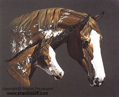 Paint Mare and Foal - Click for more info